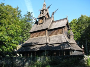 Fantoft stavkirke - replika stredovekého kostola